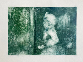 Garden Ghost monoprint