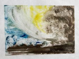 Landscape monoprint 2