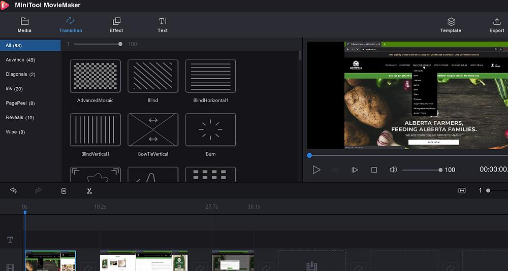 Info video I am working on using MiniTool MovieMaker