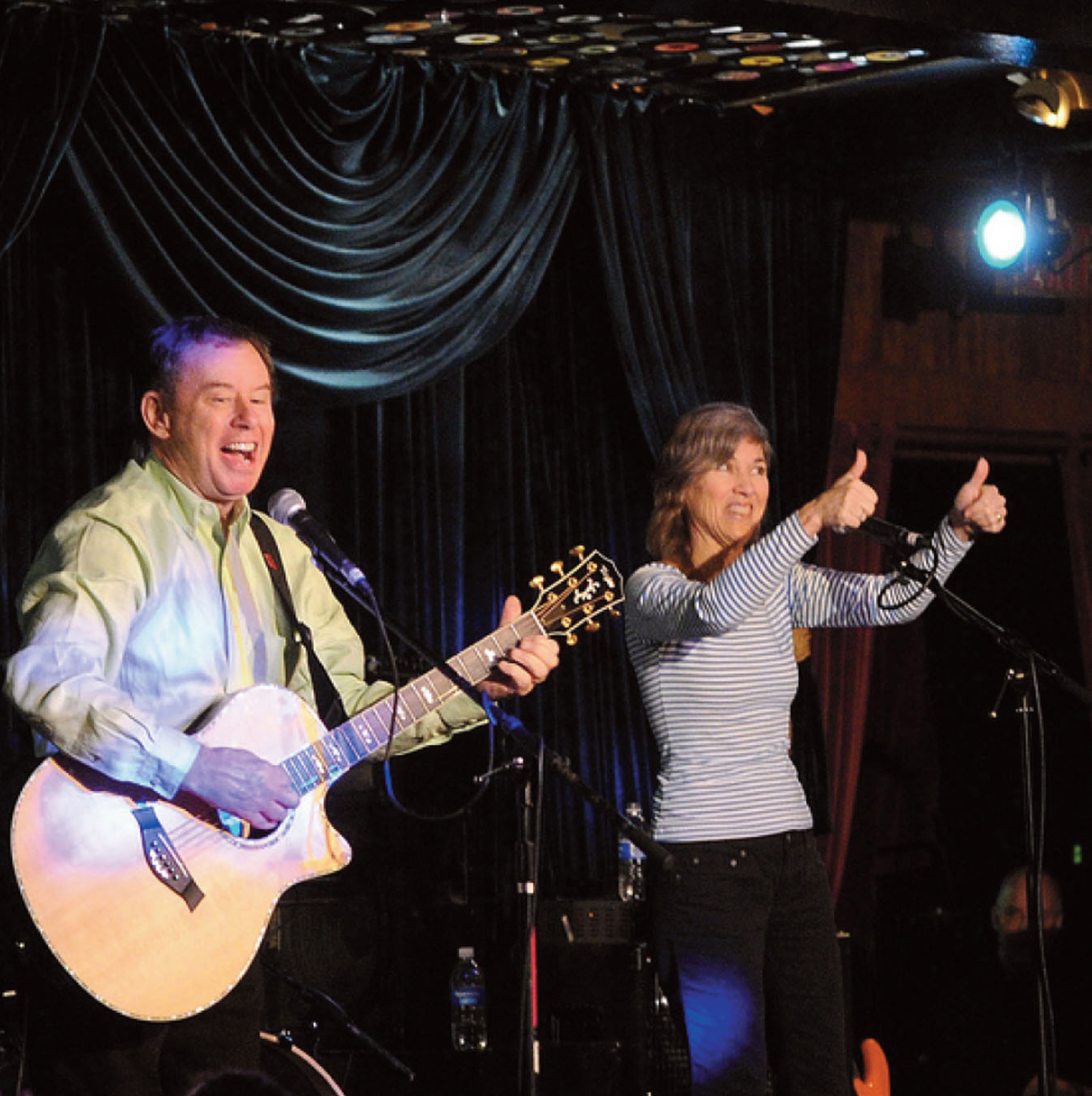 The BatDuo performing at The Mint