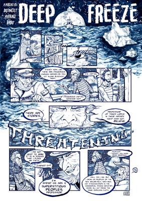 Deep Freeze, mini comic, 2019
