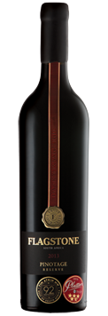 "1 x Bottle (750 ml) of Flagstone ""Time Manner Place"" Reserve Pinotage"