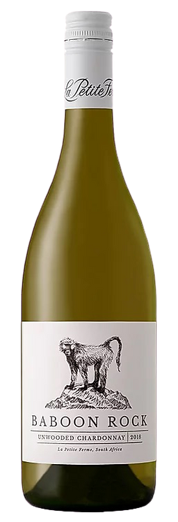1 x Case (6 bottles) of La Petite Ferme Baboon Rock Un-wooded Chardonnay