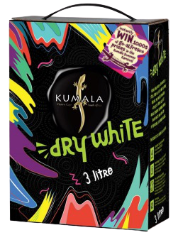 1 x Box (3 litre) of Kumala Dry White