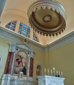 Tester above Altar