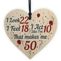 50th Birthday Love Heart