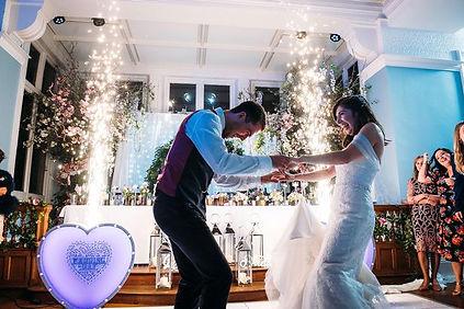 Wedding DJ Bagshot Surrey Sparkling Fontains 50th Birthday Party
