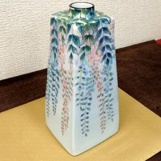 藤の花図角瓶