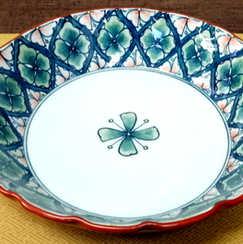 花菱文盛皿