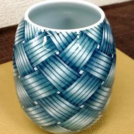 網目文花瓶