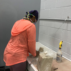 Student Wedging Clay
