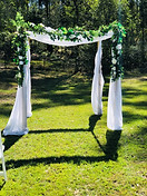 Double bamboo arbour