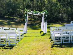 Elegant ceremony set-up