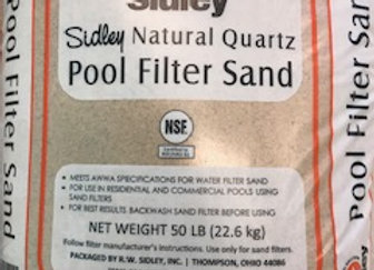 Pool Filter Media Sand #20 Standard Silica/Quartz 50 lb.