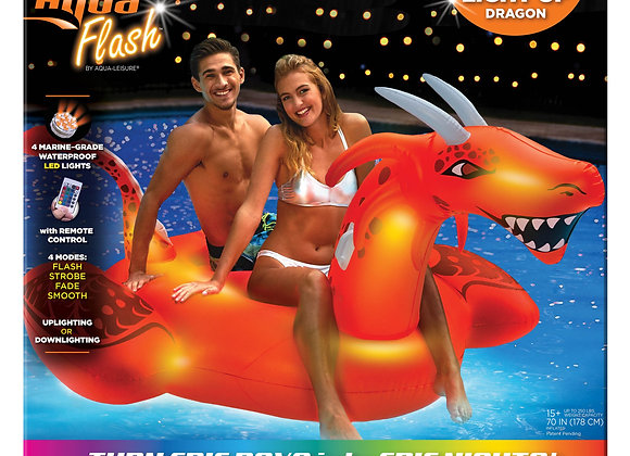 """LED Lite Up! Scorch Dragon Ride-On Pool Float 95"""""""