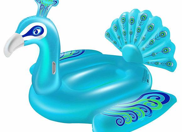 "Blue Princess Peacock Ride-On Pool Float 72"""