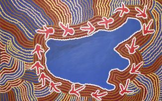 Emu dance at Lake mackay (2004)