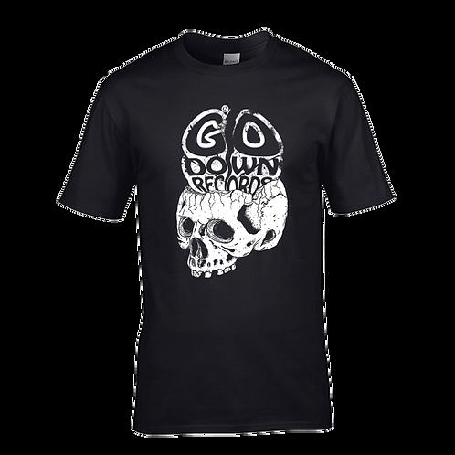 Go Down Records skull tee