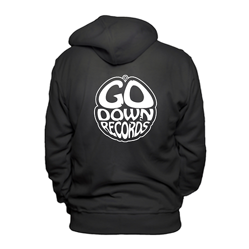 Go Down Records logo hoodie
