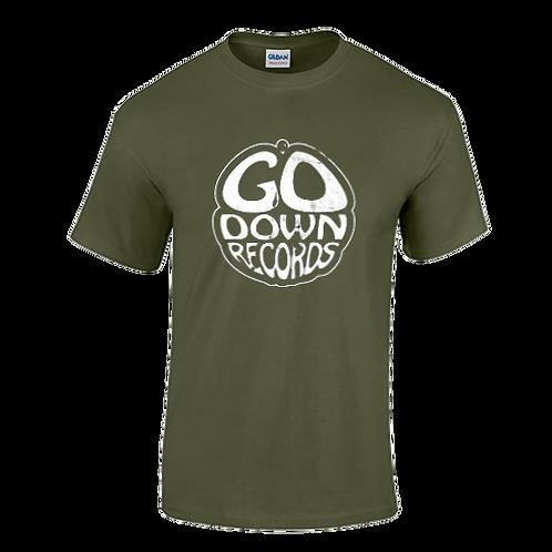 Go Down Records logo tee