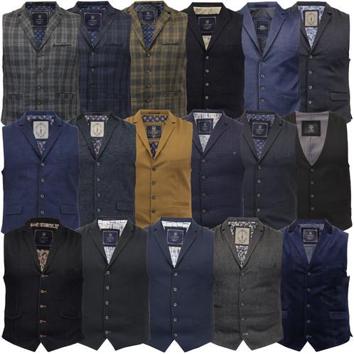 b7b7a930766 Mens Wool Mix Herringbone Tweed Formal Vest Check Waistcoat By Cavani  Crespo.   350
