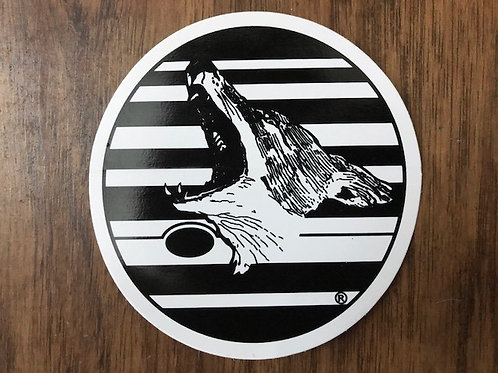 Classic Coyote Logo Sticker