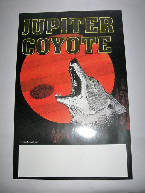 Vintage Jupiter Coyote Tour Poster, 11 x 17.