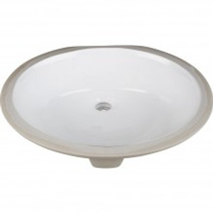 "17"" x 14"" Undermount White Porcelain Basin"