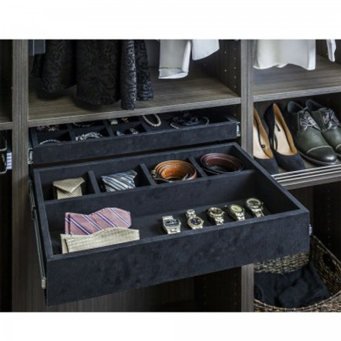 5 Compartment Felt Jewelry Organizer Drawer Kit