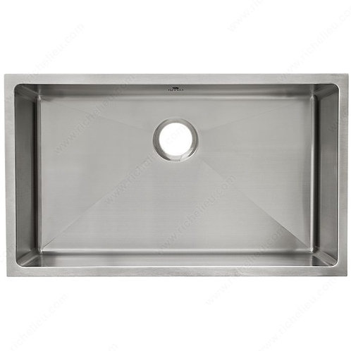 Stainless Steel, 18 ga.  Architectural style Single Bowl Sink