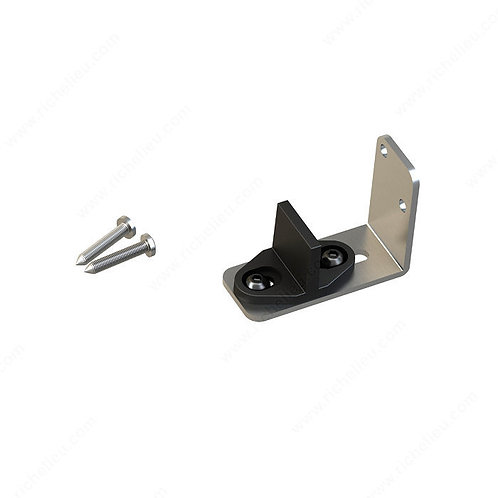 Adjustable Lower Guide for Wood Door, Stainless Steel