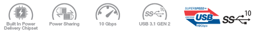 3.1 Gen2 USB-C to micro-B  ico