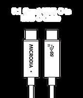 MICRODIA USB-C 3.1 Gen.2 USB-C to USB-C