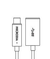 MICRODIA USB-C 3.1 USB-C to USB-A Adapter