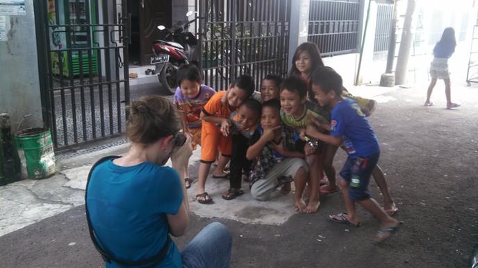 Indonesian street market