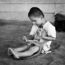 Fernando and his squirrel monkey, Peru