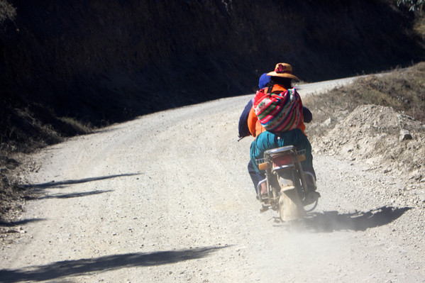 Traversing Andean highways, Peru