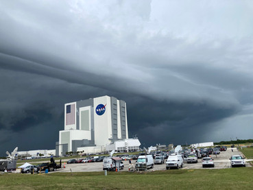 Shelf cloud over NASA's Kennedy Space Center, Florida