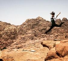 High above Petra, Jordan