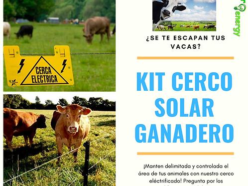Kit cerco solar ganadero 1 ha.