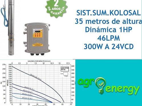 Sistema de bombeo solar sumergible 1hp 46 lpm