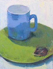 Mug and Plate, Oil on Canvas, 9x12
