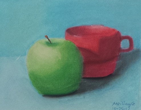 Pastel on Paper, 13 year old student