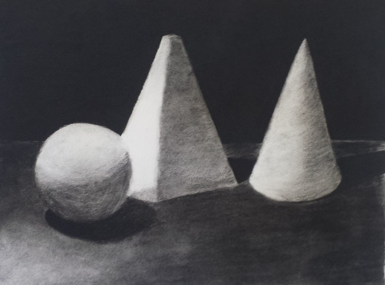 Charcoal on Paper, 10 year old student