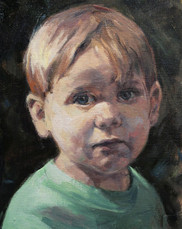 Tommy, Oil on Canvas, 9x12