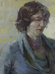 Portrait of My Sister, Oil on Panel, 36x24