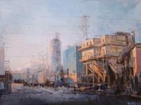 Industrial Landscape, 16 x 20