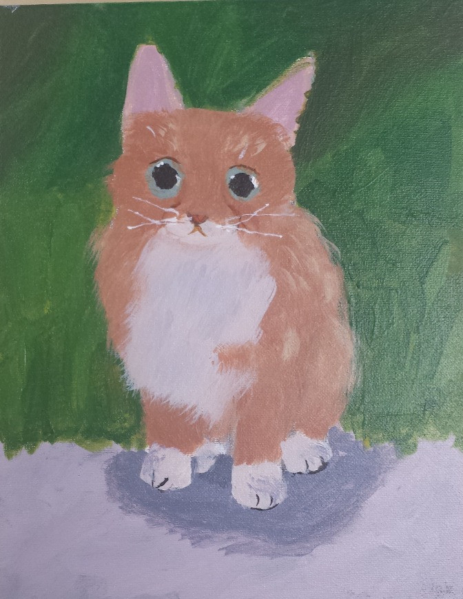 Acrylic on Canvas, 10 year old student