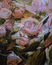Roses 5, Oil on Canvas 36 x 48