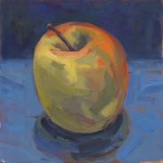 Apple, Oil on Wood Panel, 5x5